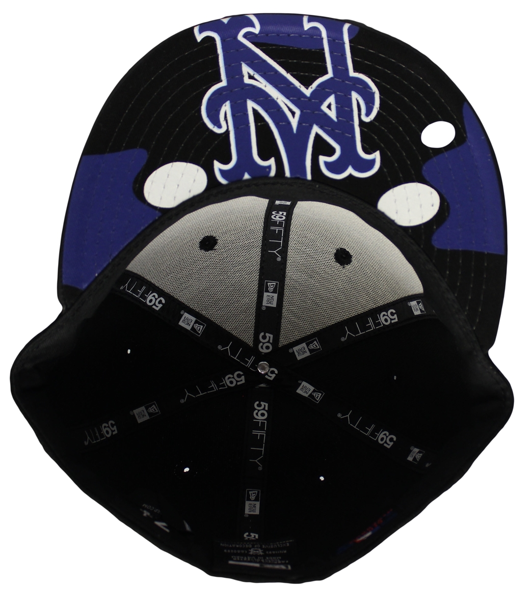 bf841a67c1df New Era 59Fifty Space Jam Air Jordans 11 New York Mets Black   Blue Fitted  Hat Cap