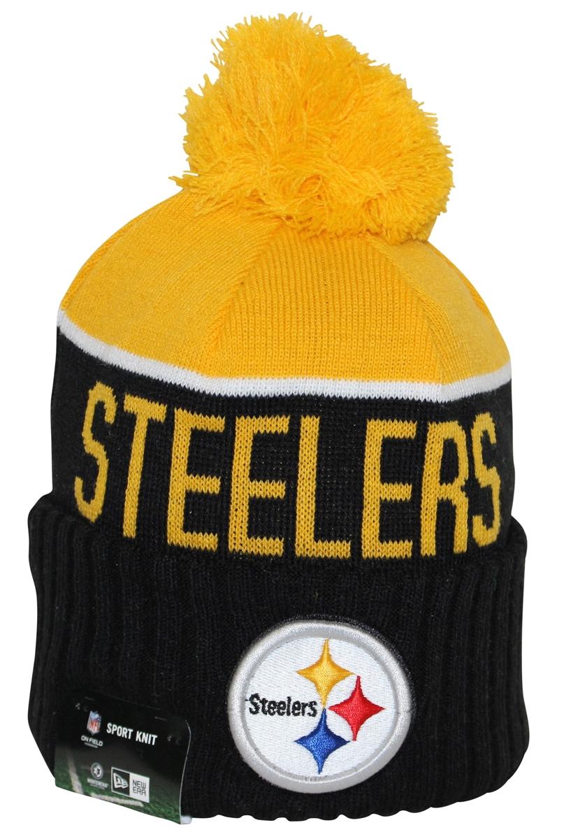 New Era NFL15 On-Field Sport Knit Pittsburgh Steelers Black Yellow ... a027172d59b