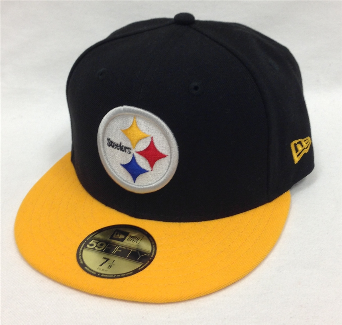 New Era 59Fifty Black Team Pittsburgh Steelers Black   Yellow Fitted ... 2c427862f46e