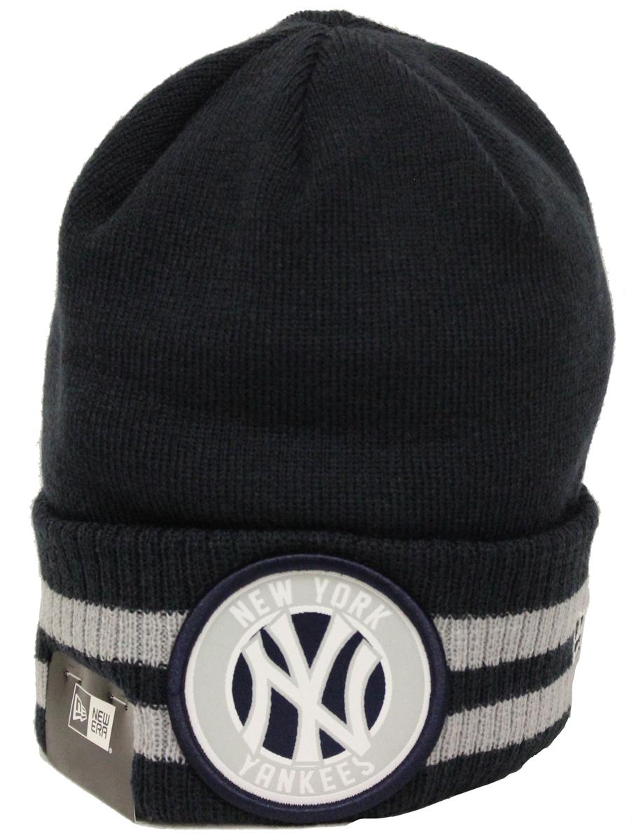 a7525d5a23d69 New Era 2 Striped Remix New York Yankees Navy Gray Beanie