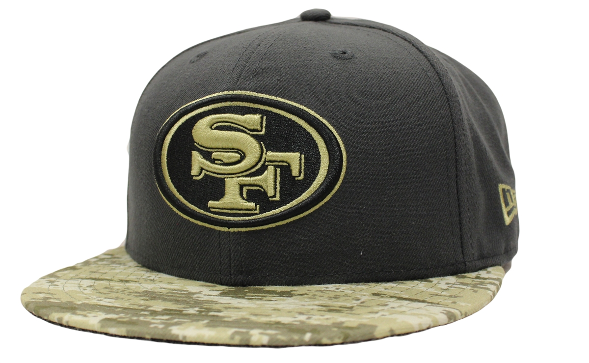 51e4eaacc New Era 59Fifty Hat STS Salute To Service San Francisco 49ers Fitted ...