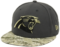 New Era 59Fifty Hat STS Salute To Service Carolina Pathers Fitted Cap d9be28d298bc