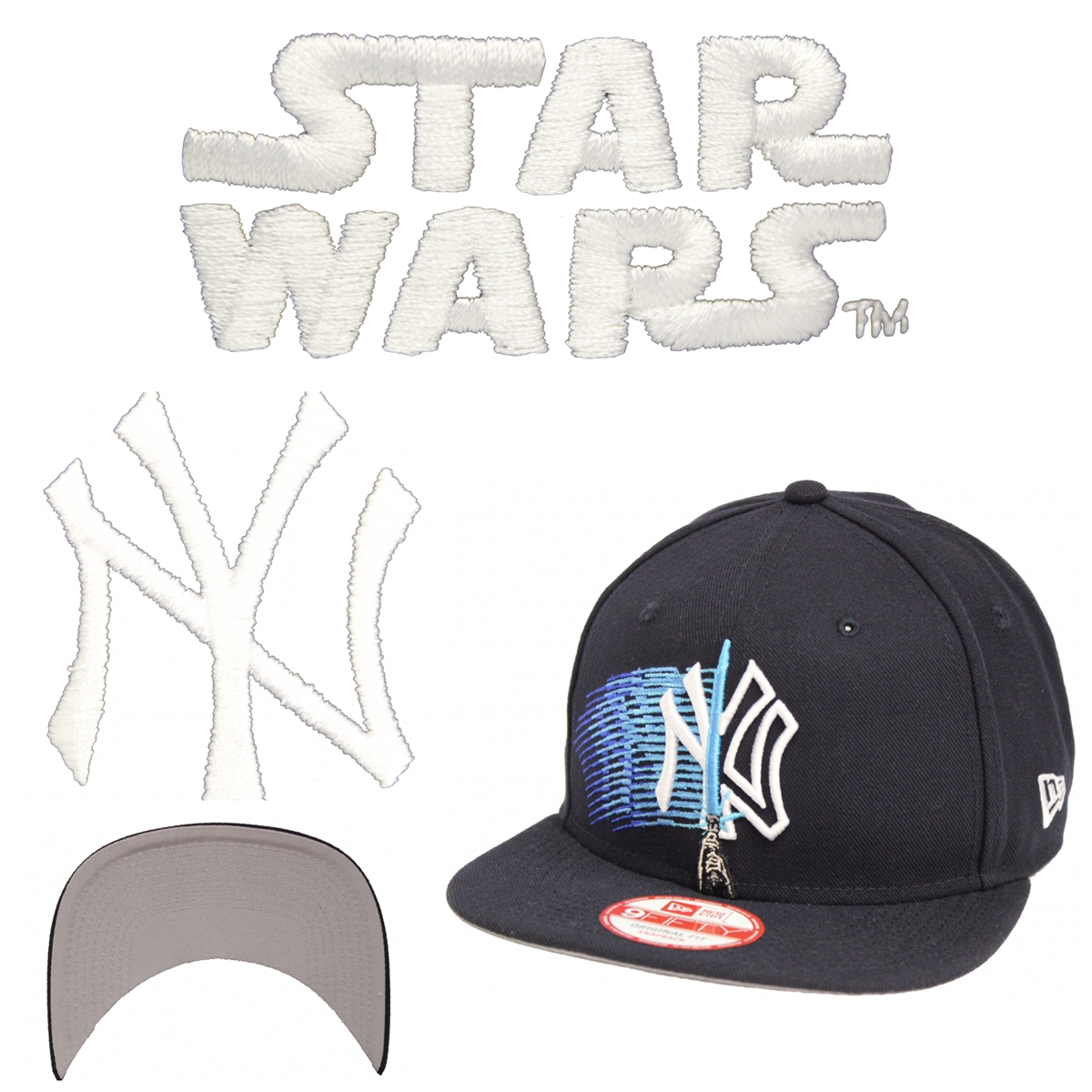 wholesale dealer bbe85 ad7f0 ... one word r2d2 snapback cap 79171 91545  low cost new era 9fifty logo  swipe new york yankees navy snapback star wars 7b6ec c9a13