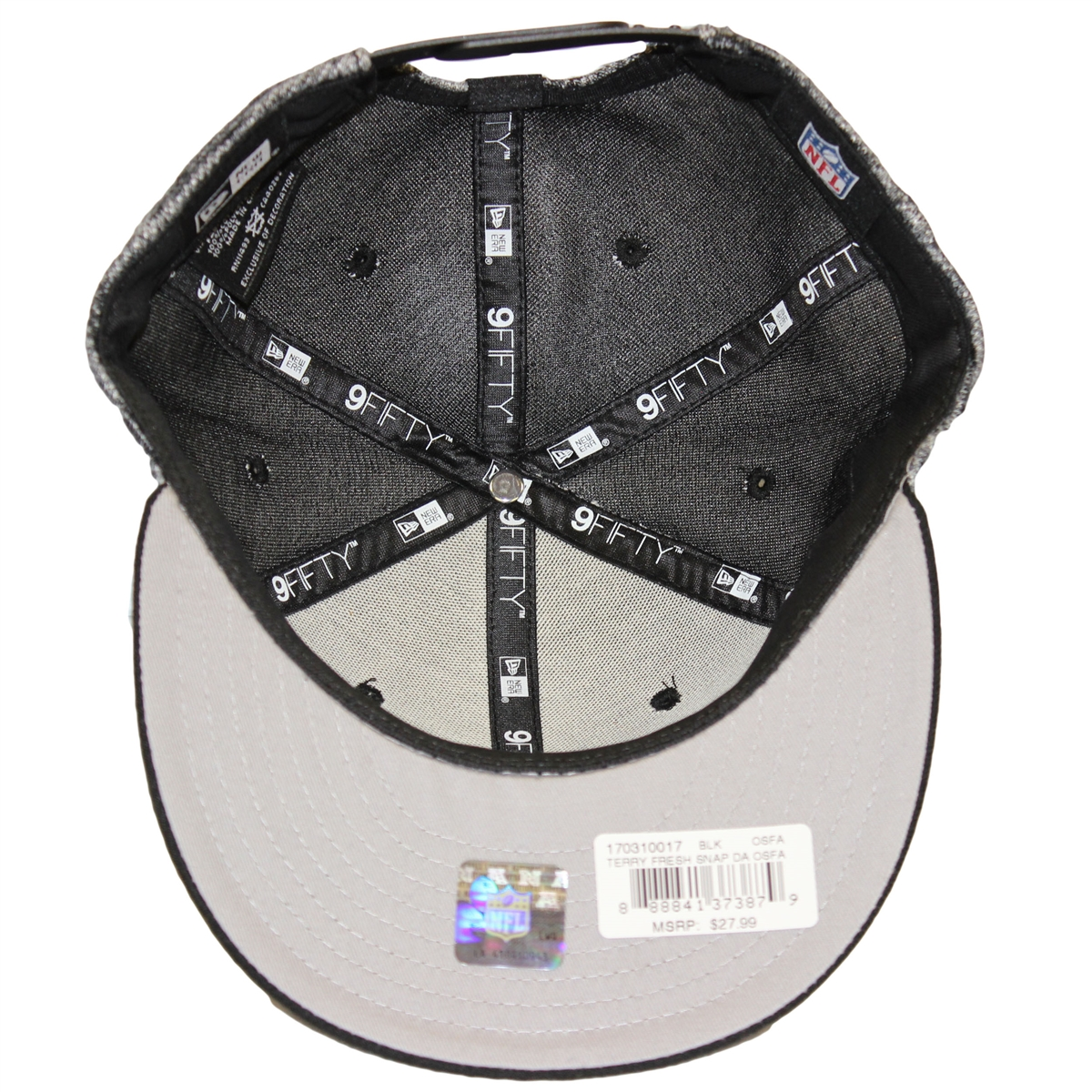 f47df91b243 NE 9Fifty Terry Fresh Dallas Cowboys Gray Black Snapback Hat NFL 3-D Raised  Star