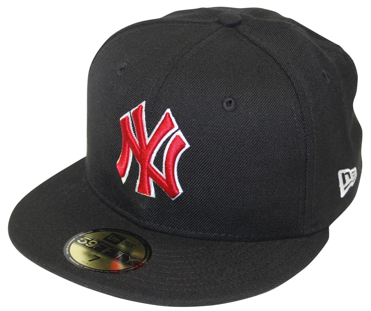 bb50f42a23078 New Era 59Fifty MLB Basic New York Yankees Black   Red Fitted Cap