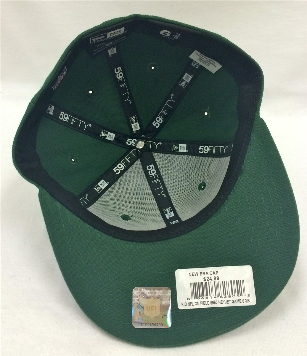 5c591b286c8313 New Era 59Fifty Youth NFL On-Field New York Jets Green Fitted Cap