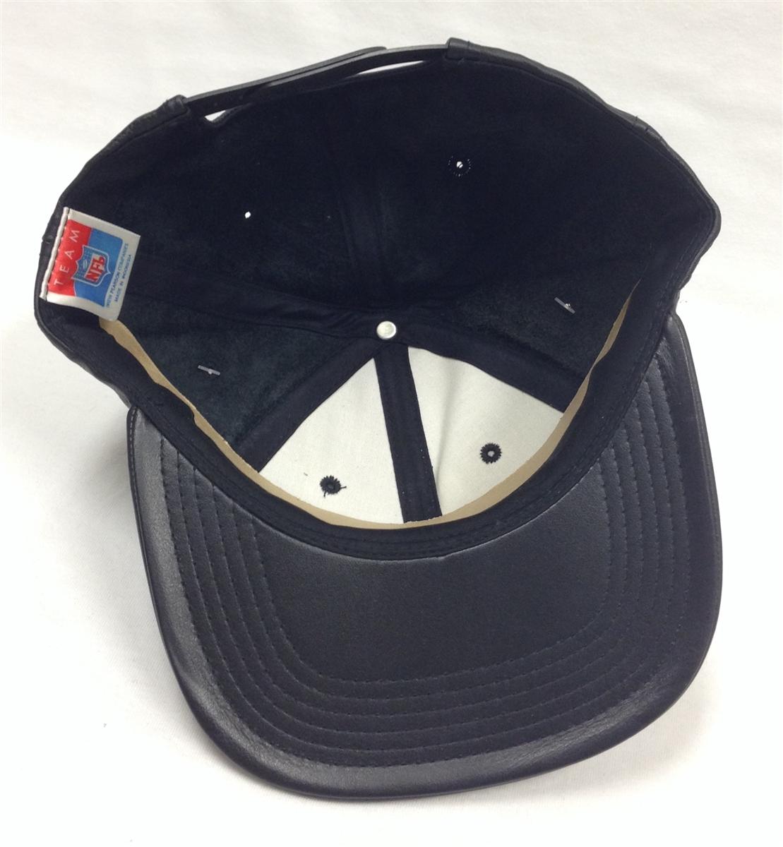 e846a2fc518ae Team NFL Miami Dolphins Black Leather Snapback