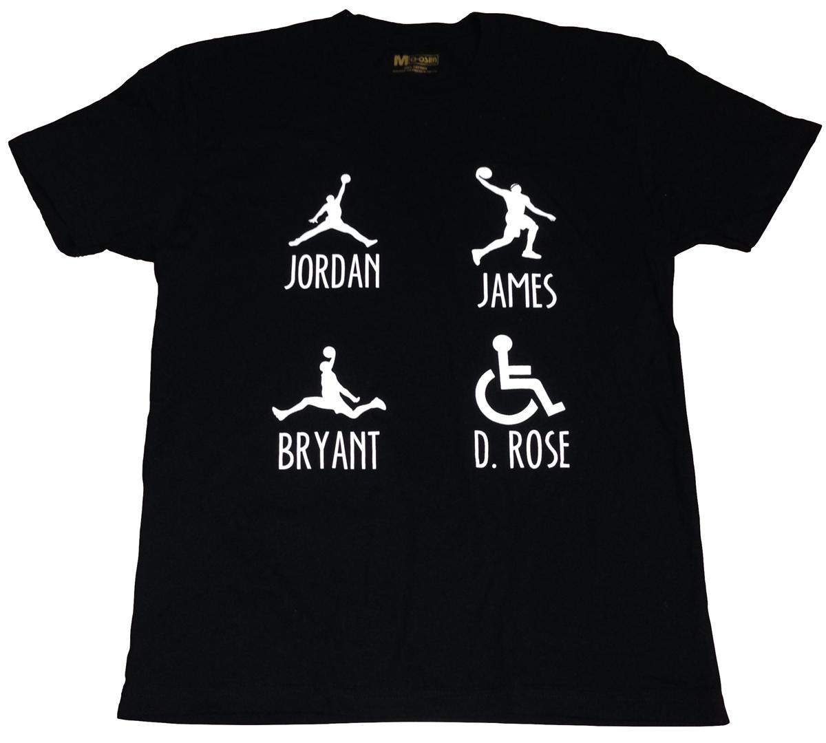 le dernier c938a 9eaa1 Derek Rose Black T Shirt Jordan Kobe Lebron