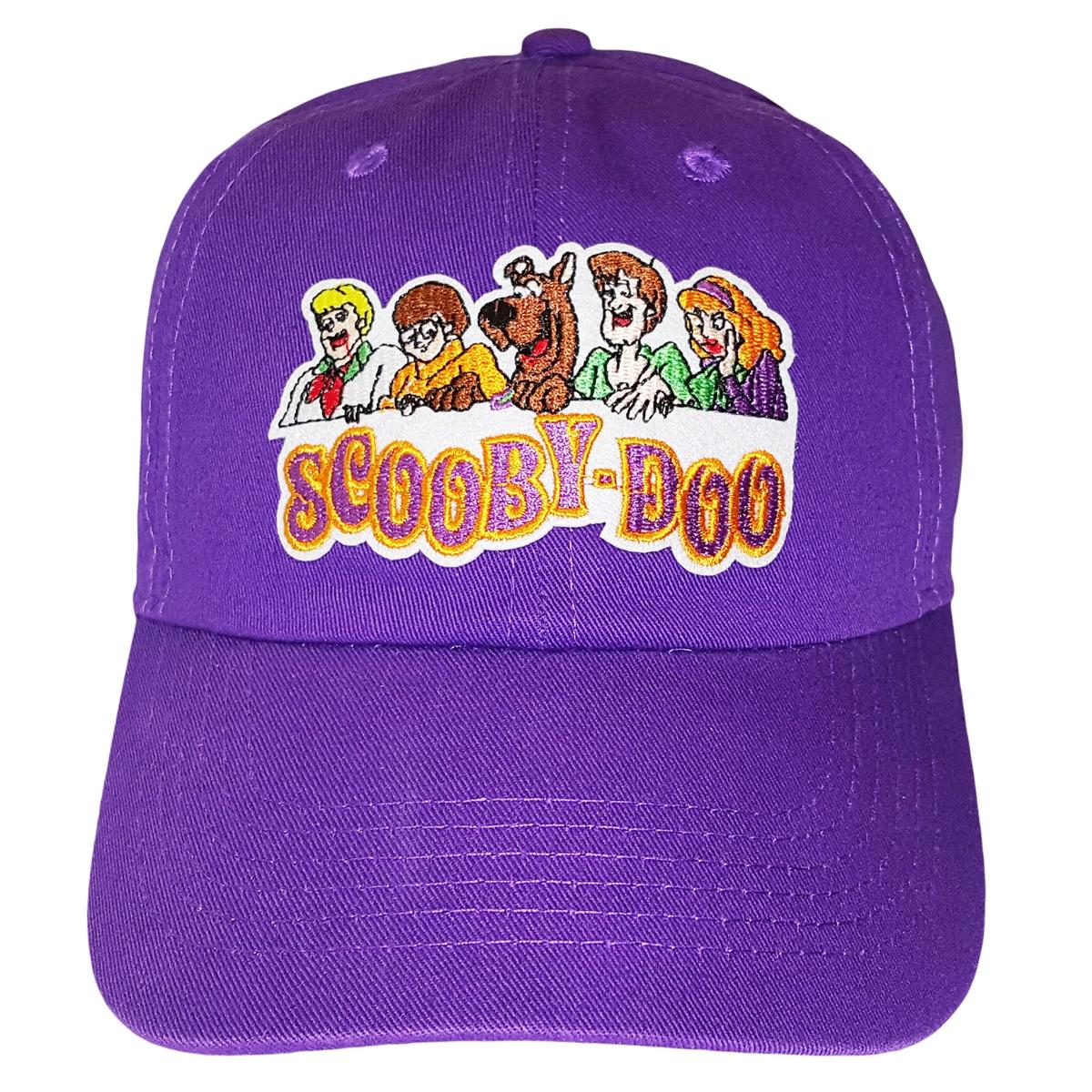 7a6fe6e3ee1 Scooby-Doo Purple Adjustable Dad Hat Strapback Patch