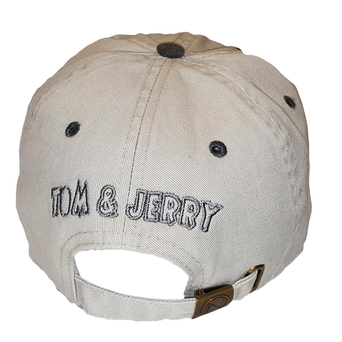 Khaki Tom   Jerry Adjustable Dad Hat Strapback Patch 39b43c48071