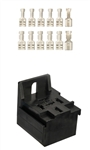 "5-Pos Relay Connector & Terminal Kit .250"" with Locking Lance"