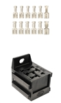 "9-Pos Relay Connector & Terminal Kit .250"" with Locking Lance"