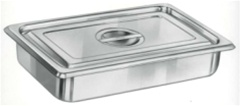 Instrument Tray, Stainless Steel with Lid