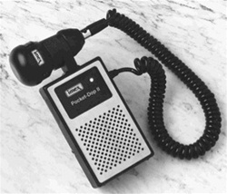 Pocket Dop II with 2 MHz Waterprof Probe, This particular doppler is the perfect buy for those looking to supply birth houses in rougher terrain. They are the most rugged of dopplers out there and also have an excellent track record for long-lasting servi