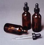 Amber Tincture Bottles with Dropper, 2 ounce
