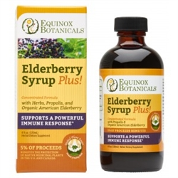 Equinox Elderberry Syrup Plus!, 4 oz