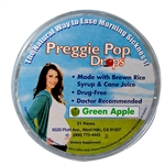 Three Lollies Preggie Pop Drops, Green Apple, 21 Pcs.