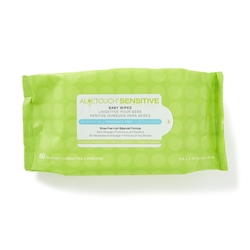 Aloetouch Sensitive Fragrance-Free Baby Wipes, 80/Pack