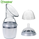 Haakaa Gen 3 Silicone Breast Pump and Bottle Set, 6 oz/160ml