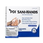 Sani-Hands Antimicrobial Wipes, 100 wipes per box