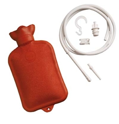 Hot Water Bottle with Douche and Enema System