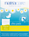 Natracare Natural Pads - Ultra w/Wings-Regular 14/Box
