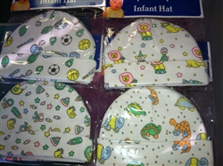 Baby Print Infant Hat - 100% Cotton