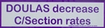 """Doulas Decrease C-Section Rates"" Bumper Sticker"