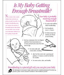 Is My Baby Getting Enough Breastmilk Tear-Off Pad, English/Spanish