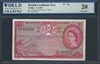 British Caribbean Territory, P-07b, 1 Dollar, 3.1.1956 Signatures: Lartigue/Blache-Fraser/Spence 20 Very Fine