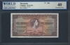 Bermuda, P-18a, 5 Shillings, 20.10.1952 Signatures: Davidson/Kempe 40 Extremely Fine