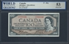 Canada, P-082a, 100 Dollars, 1954 (1955-61), 53 About UNC