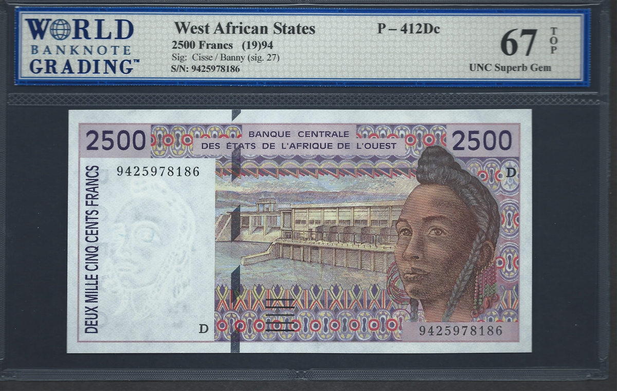B120Ce  BURKINA FASO GEM UNC 2016 West African States 500 Francs P-319Ce