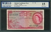 British Caribbean Territory, P-07b, 1 Dollar, 3.1.1956, Signatures: Lartigue/Blache-Fraser/Spence, 15 Fine Choice