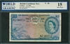 British Caribbean Territory, P-08b, 2 Dollars, 2.1.1958, Signatures: Essex/Waterman/Williams, 15 Fine Choice