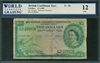 British Caribbean Territory, P-09b, 5 Dollars, 2.1.1958, Signatures: Lartigue/Waterman/Burrowes, 12 Fine