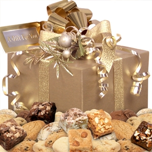 Golden Goodies Cookie & Brownie Gift Box