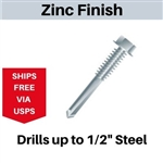 "Hex Self Drill Screw 12-24 x 3"" #5 Point"