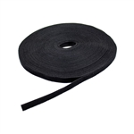 "1/2"" x 75' Hook & Loop Roll Black For Cable Management"