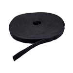 "3/4"" x 75' Hook & Loop Roll Black For Cable Management"