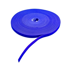 "3/4"" x 75' Hook & Loop Roll Blue For Cable Management"