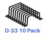 "Arlington D-33 3"" D Ring For Cable Management Pack Of 10"