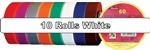 "White Electrical Tape 3/4"" x 66' 10 Pack"