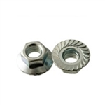 1/4-20 Serrated Hex Flange Nut 100 Pieces