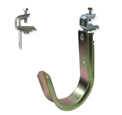 "4"" J-Hook With Beam Clamp Box of 10"