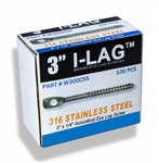 Stainless Steel Acoustical Eye Lag Screw Box Of 100