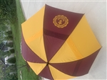 Large Maroon and Gold Golf Umbrella