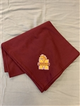 Maroon Sweatshirt Blanket Throw