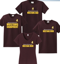 Mustang Grandparent Maroon V Neck