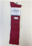 Ladies Maroon Knee Socks